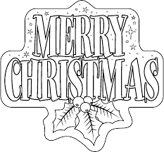 merry christmas clipart printable pencil and in color merry