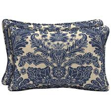 Blue Outdoor Cushions Lumbar Hampton Bay Outdoor Pillows Outdoor Cushions The