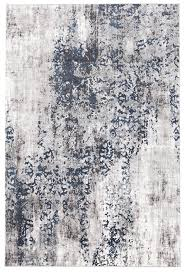 Rug Modern Casper Distressed Modern Rug Blue Grey White