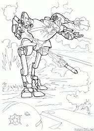 coloring page assault robot