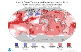 World Temperatures Map by 2015 Halfway Over And Noaa Climate Gov