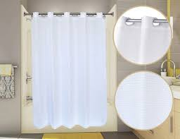 Hookless Waffle Shower Curtain Hotel Shower Curtains Pre Hooked Waffle View Shower Curtain By