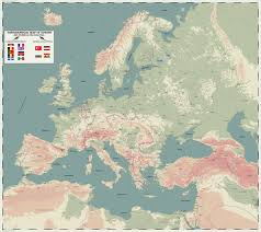 Topographical Map Of Europe by Europe 1914 Prelude To The Great War By Zalezsky On Deviantart