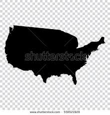 us map outline eps transparent high detailed black map united stock vector 550521928