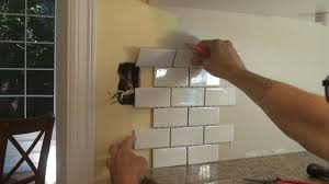 how to move backsplash outlet before tile work youtube