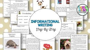 writing informational text step by step third grade doodles