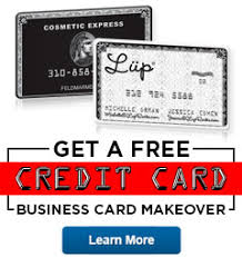 Business Card Credit Embossed Credit Card Style Business Cards