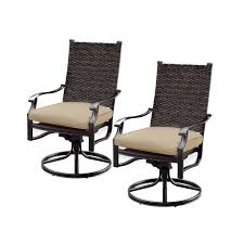 carondelet 2 piece wicker patio swivel rocker w sunbrella
