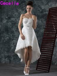 informal wedding dress vintage lace high low wedding dresses sweetheart beaded hi