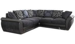 Large Corner Sofa New Large Pioneer Corner Sofa Grey Black Leather U0026 Charcoal