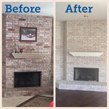 paint your fireplace easy update with gray washing just the