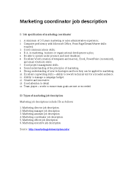 Job Desk Project Manager Marketing Executive Job Description Awesome Collection Of Cover