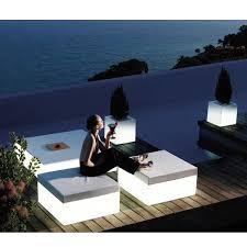 illuminated outdoor furniture patio lighted modern
