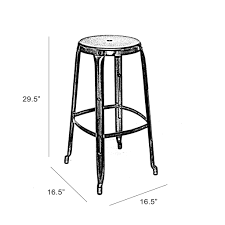 34 Inch Bar Stools Austin White Stackable Barstool 30 Inch Set Of 4 Wholesale Living