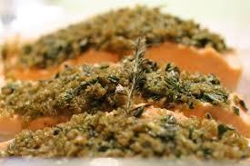recette cuisine vapeur saumon gratiné aux herbes le test vapeur la cuisine de mercotte