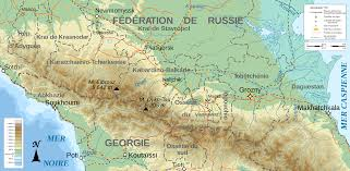Topographical Map Of Georgia File North Caucasus Topographic Map Fr Svg Wikimedia Commons