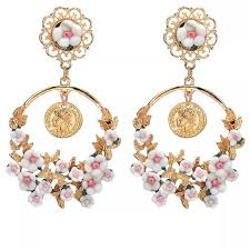 fashion earrings gorgeous white pink roses fashion earrings from s
