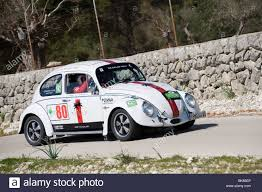 volkswagen beetle race car 1965 vw beetle classic sports car taking part in a rally in spain