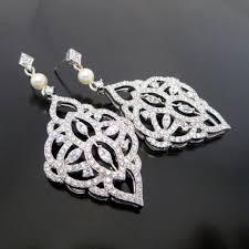 Chandelier Pearl Earrings For Wedding Chandelier Wedding Earrings Crystal Bridal Earrings Bridal