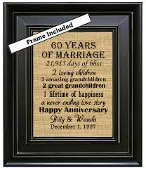 60 year gift ideas framed 60th wedding anniversary 60th anniversary gifts 60th