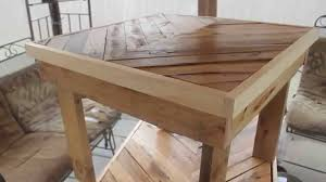 tables made out of pallets beautiful tables made from free pallets youtube