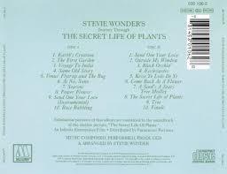 journey through the secret life of plants stevie wonder songs