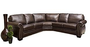 Discount Leather Sectional Sofas Abbyson Berkshire Italian Leather Sectional Sofa Home