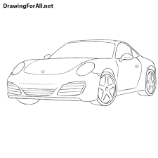 ferrari sketch side view how to draw a porsche 911 drawingforall net