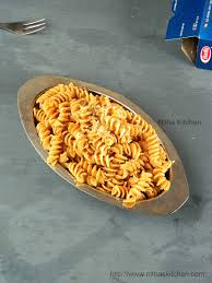 nitha kitchen indian style curried pasta recipe quick rotini