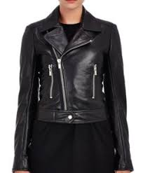 Leather Biker Jacket Womens High Quality Motorcycle Style Free