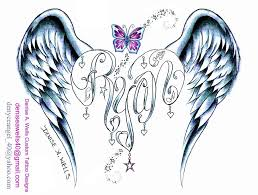 ryan angel wing heart tattoo design by deniseawells on deviantart