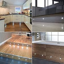 Kitchen Kickboard Lights Set Of 10 15mm Cool White Led Decking Deck Plinth Lights