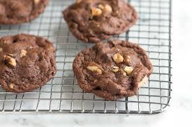 easy double chocolate walnut cookies recipe