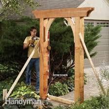 how to build an archway trellis diy garden ideas garden arch and bench ideas for an organized