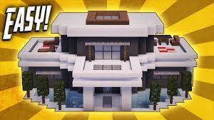 minecraft how to build a large modern house tutorial 20 youtube