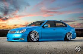 lexus gs300 blue ian u0027s lexus gs300 widebody equipped with spec a iss forged cars