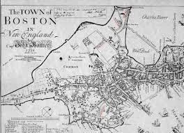 Boston Map by 1722 Captain Bonner U0027s Map Of Boston