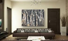 catchy large wall art purple trees landscape masculine canvas