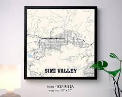simi valley map simi etsy
