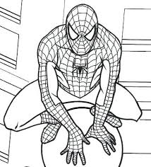 spiderman colouring pages free marvel coloring cartoon