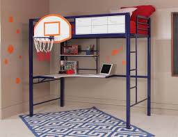 Twin Loft Bed With Study And Basketball Hoop Blue Walmartcom - Study bunk bed
