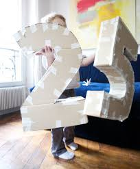 How To Make A Cardboard Chandelier How To Make Your Own Big Numbers Great To Use For Birthdays