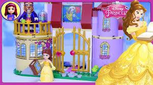 disney s beauty the beast ares creative design lego disney princess belle s enchanted castle set build review