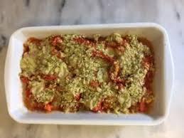comment cuisiner des poivrons crumble salé poivrons tomates et pesto comment j ai changé de vie