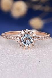 Aquamarine Wedding Rings by Aquamarine Engagement Rings For Romantic Girls Oh So Perfect