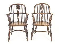 Antique High Back Chairs Antique High Chair Ebay