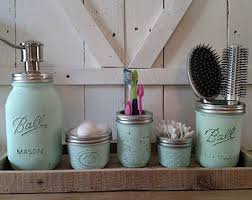 Bathroom Storage Jars Jar Bathroom Etsy