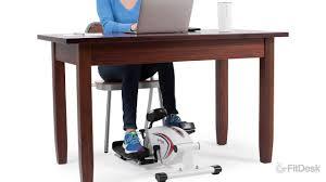 Under Desk Mini Stepper The Fitdesk Under Desk Elliptical Youtube