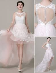 illusion neckline wedding dress high low wedding dress lace illusion neckline bridal running dress