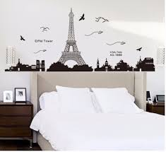 wallpaper eiffel tower removable decor environmentally mural wall wallpaper eiffel tower removable decor environmentally mural wall stickers decal gifts fashion in wall stickers from home garden on aliexpress com